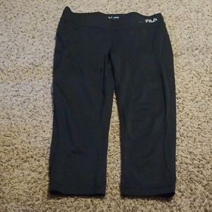 Fila athletic running capri yoga pants